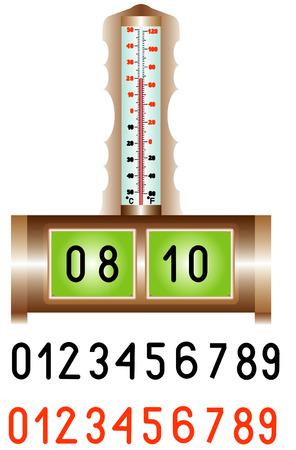 digital thermometer: Sveglia elettronica del desktop digitale sveglia elettronica con termometro Modifica il proprio tempo Raccolta di colore numeri digitali