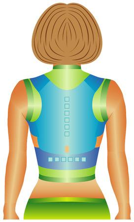 lombaire: Magn�tique dos et l'�paule de soutien utilise sangles moulants et douze aimants strat�giquement plac�s pour aider une mauvaise posture correcte en tirant doucement les �paules en arri�re, soulagement de la douleur pour un douloureux retour