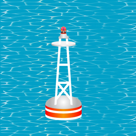 waterway: Nautical Buoy  Nautical Buoy on Clear Water Surface  Floating buoy on the Water