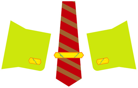 cuff links: Gold cuff links and a tie-pin, decorations