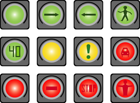Traffic light for people Vector