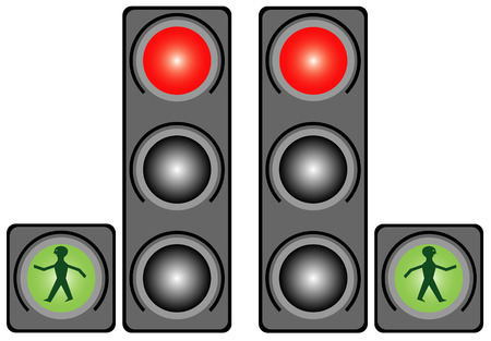 precedence: Traffic light in the city  Traffic light illustration