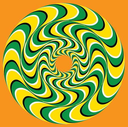 arte optico: Hypnotic Swirly Esfera. Fondo de la ilusión óptica. Anillos piscina Remolino (ilusión de movimiento).