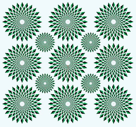 Illusion of rotation movement. Abstract op art background. Optical illusion of rotation. Rotation effect. Rotation illusion. Illustration