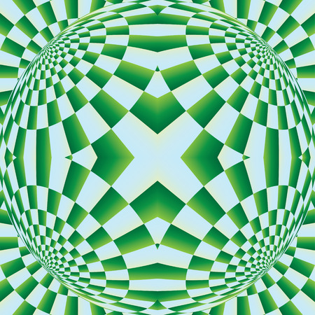 illusion: Optical expansion illusion. Abstract perforated background with bulgy effect. Motion illusion - swell. Uncanny -motion illusion. Optical illusion, bulge, distortion, seamless pattern