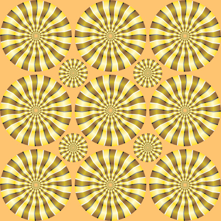 spin: Spin illusion. Optical illusion, creative graphic moire backdrop. Decorative lined hypnotic contrast background. Spin Circles - motion illusion. Bright background with the optical illusion