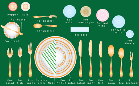 settings: Formal Dinner. Etiquette of a business dinner. Formal Dinner Place Setting. Etiquette Proper Table Setting. Dinner place setting. How To Set A Table