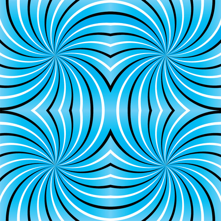 Psychedelic spiral. Spiral illusion texture lines. Psychedelic spiral with radial rays. Seamless Background. Color Abstract Background.