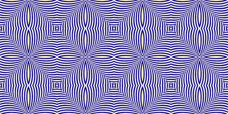 Shimmering Optical Illusion. Op Art Design. Abstract seamless op art pattern. Striped optical illusion repeating texture