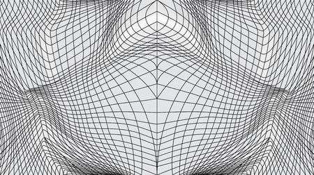 Distorted surface. Abstract black and white texture. Geometric waving grid, seamless pattern. Stripe deformation background. Distorted mesh, grid pattern of lines Ilustração