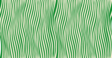 Distorted color lines - illusion of motion. Wave - distortion effect. Optical effect wave movement. Seamless pattern. Horizontal, color lines stripes pattern or background with wavy distortion effect
