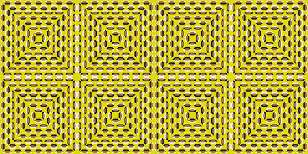Tunnel Illusion. The optical illusion of the movement of the polygons. Random, Chaotic motion of polygons. Abstract illusion of tunnel effect abstract. Seamless background.