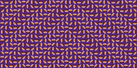 Moving Optical Illusion. The optical illusion of the movement of the moving waves, the moving polygons, the illusion of movement, the seamless pattern. Optical illusions image moving Ilustração