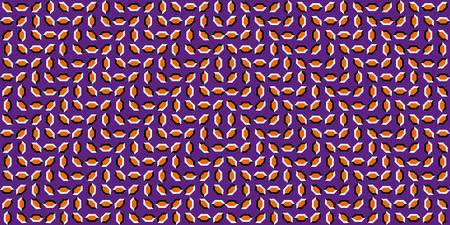 Moving Optical Illusion. The optical illusion of the movement of the moving waves, the moving polygons, the illusion of movement, the seamless pattern. Optical illusions image moving Illustration