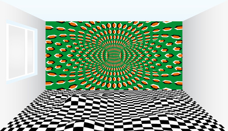 Room of illusions. Room with optical illusion. Outstanding Art Ideas Inspired By Optical Illusions. Interior design optical illusions illusion rooms