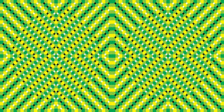Distortion Dynamic Effect. Optical illusions image moving. Pulsating background - Optical illusion. Seamless pattern. The optical illusion of movement executed in the form of fluctuating figures. Illustration