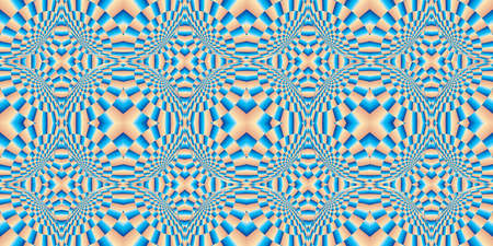 Distortion of background - Distortion effect. Geometric pattern with visual distortion effect. Optical illusion. Op art. Trendy Abstract Background with a Distorted Surface, seamless pattern