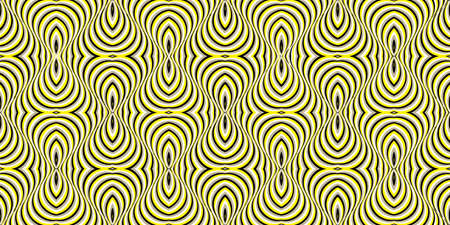 Moving Stripes. Moving Stripes Optical Illusion. Optical motion illusion seamless pattern. Colorful pop art, graphic ornament. Color movement effect. 向量圖像