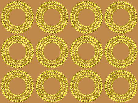 Optical illusion (Rotation). Bright background with the optical illusion of rotation of circles Illustration