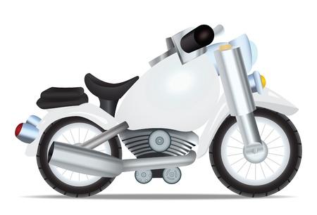 throttle: Toy motorbike. Vector illustration Illustration