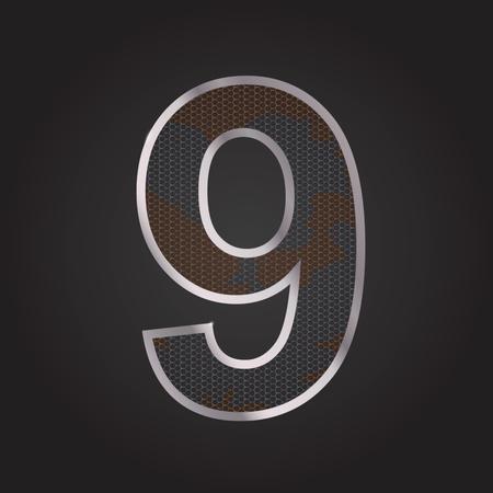 Metal number 9
