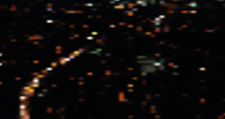 Blurred night city landscape