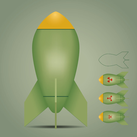 Bomb icons set. Vector illustration