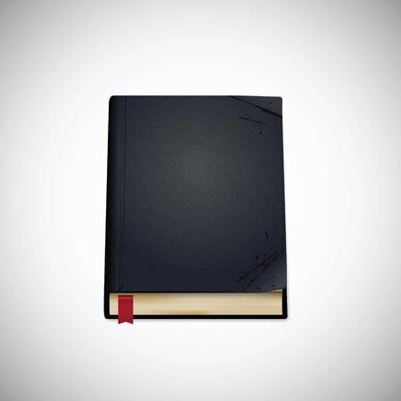 Old book, vector illustration
