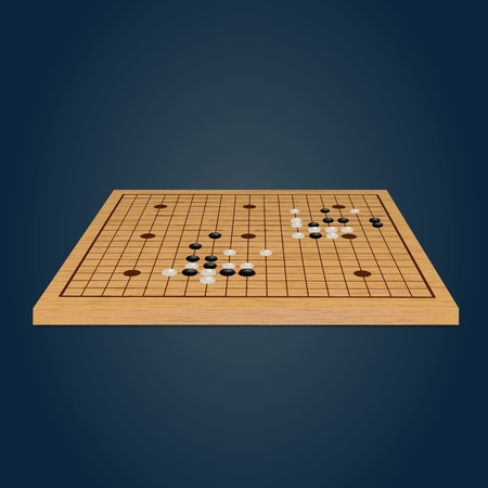 GO boardgame. Vector illustration