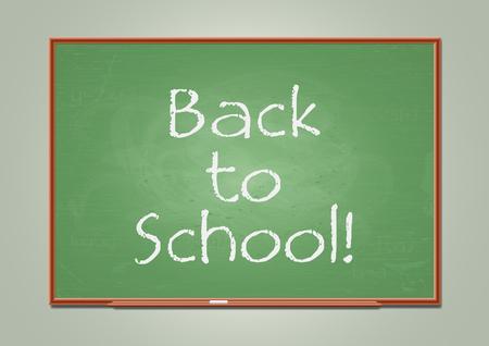 School blackboard. Vector illustration