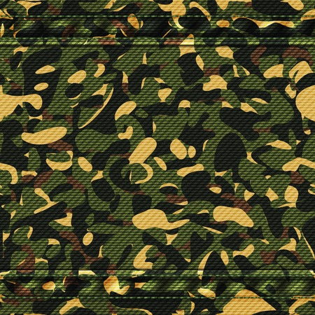 Military camouflage green pattern. Vector illustration