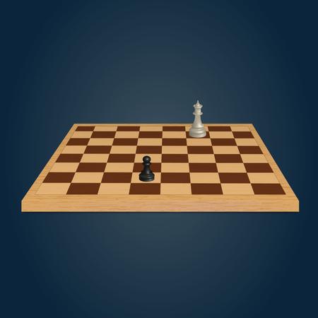 Wood chessboard. Vector illustration Illustration