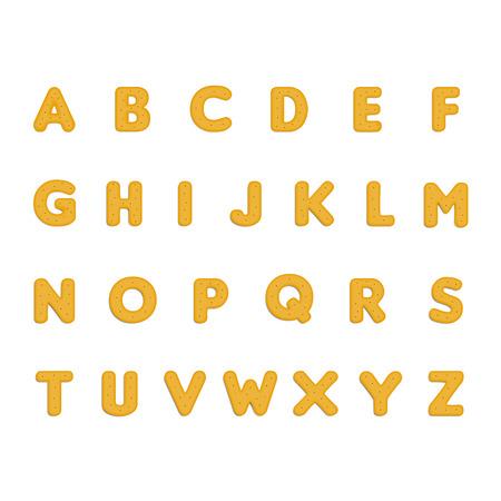 Cookies alphabet. Vector illustration Illustration
