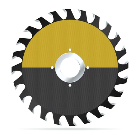Circular saw blade on a white background. Vector illustration