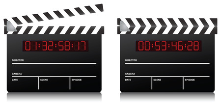 Clapboard. Vector illustration