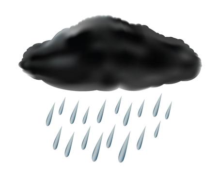 raincloud with raindrops, vector illustration Иллюстрация