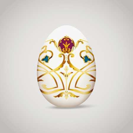 Egg with vintage decoration. Vector illustration, eps10