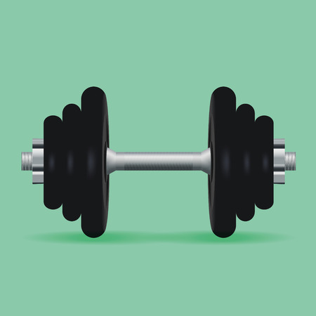 Realistic dumbbell. Vector illustration, eps10