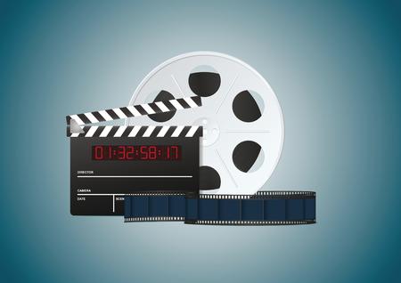 Blue cinema background. Vector illustration, eps10 Illustration