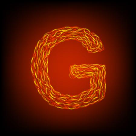 Fire letter G. Vector illustration, eps10 Ilustração