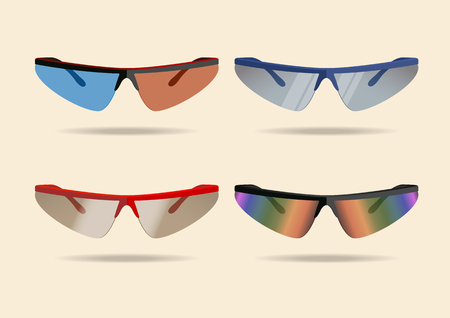 Bicycle sport sunglasses. Vector illustration, eps10