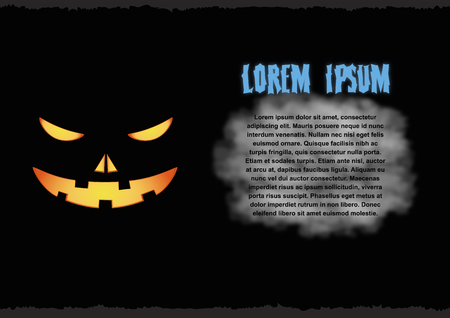 Halloween greeting card. Vector illustration, eps10 Illustration