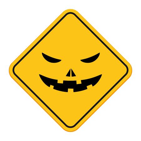 Halloween pumpkin sign Ilustração