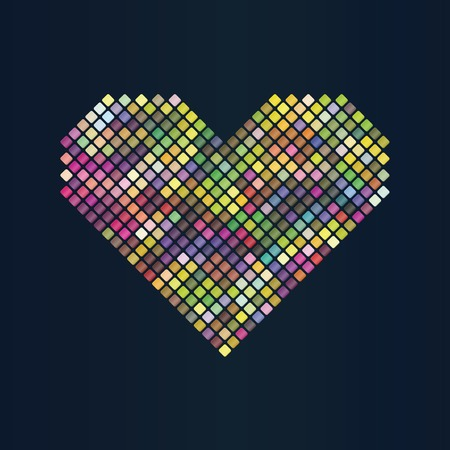 Heart abstract background. Vector illustration, eps10