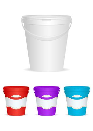Ice cream Plastic Container. Vector illustration, eps10