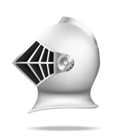 Medieval knight helmet. Vector illustration Ilustração