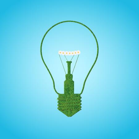 Grace silhouette of bulb lamp. Vector illustration Ilustração