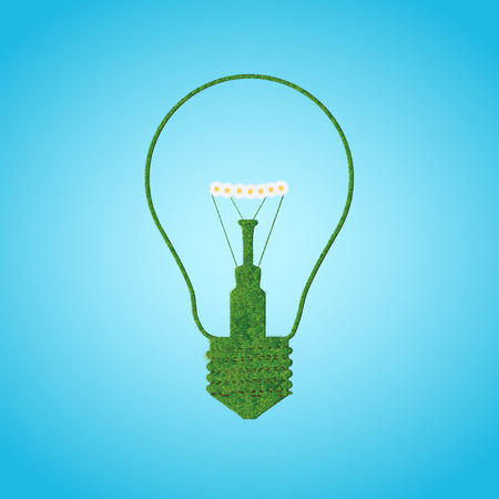 Grace silhouette of bulb lamp. Vector illustration Illustration