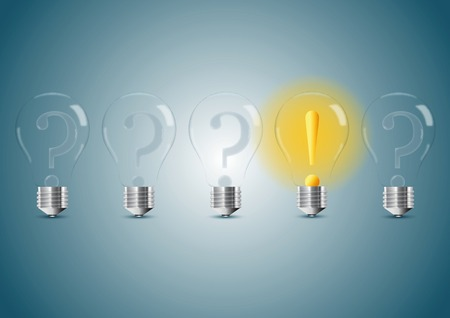 Set of stylized bulb lamps. Vector illustration, eps10