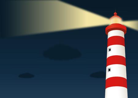 Lighthouse. Vector illustration, eps10 Stock Illustratie